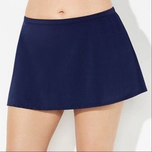 NWT Swimsuits For All navy a line skirt size 22
